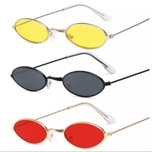 Retro Small Oval Sunglasses Women Various colors